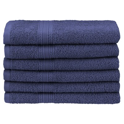 Ankara Hand Towel Color: Navy Blue