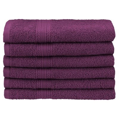 Ankara Hand Towel Color: Eggplant