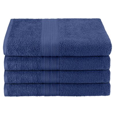 Ankara Bath Towel Color: Navy Blue