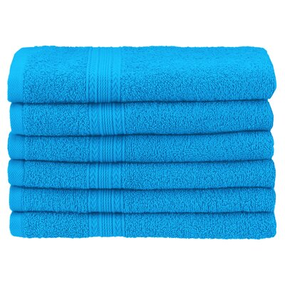 Ankara 6 Piece Hand Towel Set Color: Aster Blue