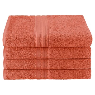 Superior Bath Towel Color: Coral