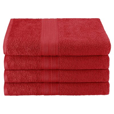 Ankara Bath Towel Color: Cranberry