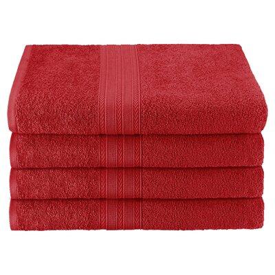 Ankara Bath Towel Color: Cranberry