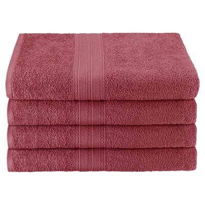 Ankara Bath Towel Color: Rosewood