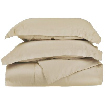 Reversible Duvet Cover Set Color: Tan, Size: Twin