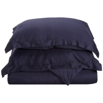 Reversible Duvet Cover Set Color: Navy Blue, Size: Twin
