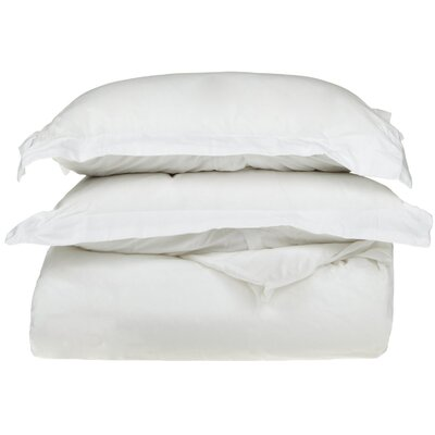 Reversible Duvet Cover Set Size: Full / Queen, Color: White