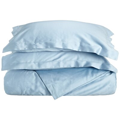 Reversible Duvet Cover Set Color: Light Blue, Size: King / California King