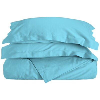 Reversible Duvet Cover Set Color: Teal, Size: King / California King