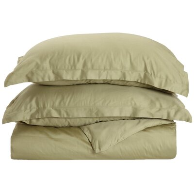 Reversible Duvet Cover Set Size: Full / Queen, Color: Sage