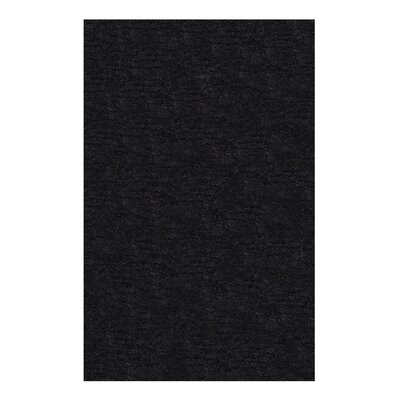 Veronica Hand-Woven Black Area Rug Rug Size: 8 x 10