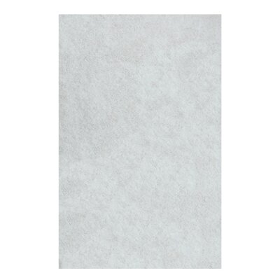 Catharine Hand-Woven White Area Rug Rug Size: 8 x 10