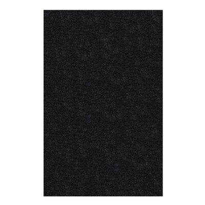 Catharine Hand-Woven Black Area Rug Rug Size: 4 x 6