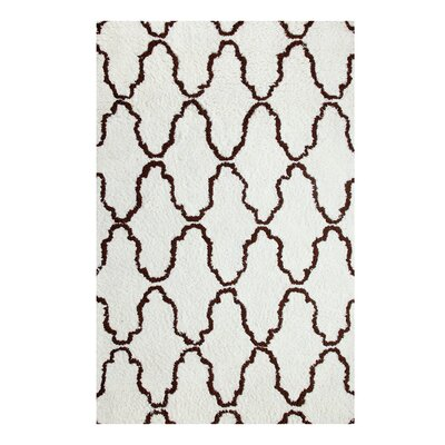 Superior Trellis Hand-Woven Ivory/Chocolate Area Rug Rug Size: 8 x 10