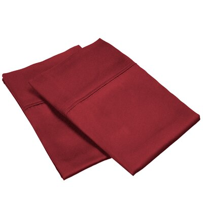 300 Thread Count Solid Pillowcase Size: Standard, Color: Burgundy