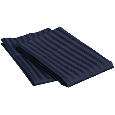 Superior 650 Thread Count Stripe Pillowcase Size: Standard