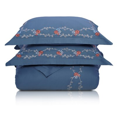 Superior Helena Duvet Cover Set Size: Full/Queen