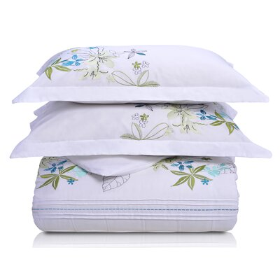 Superior Spring Blooms Duvet Cover Set Size: King/California King