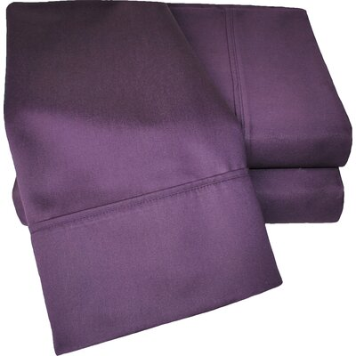 Cotton Rich 1000 Thread Count Olympic Queen Solid Sheet Set Color: Plum