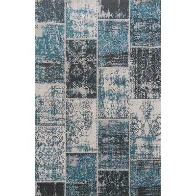 Superior Brighton Blue Area Rug Rug Size: 5' x 8'