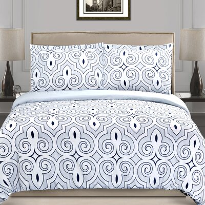 Clarendon Duvet Cover Set Size: Full/Queen
