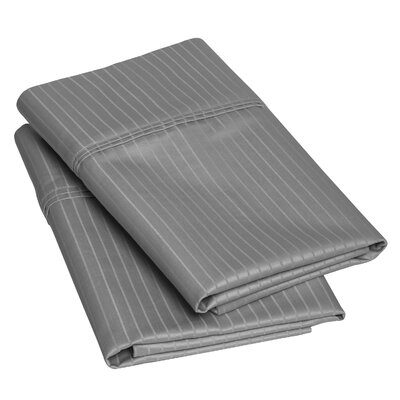 Patric Pillow Case Size: King, Color: Gray