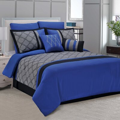 Maxfield 8 Piece Comforter Set Size: California King
