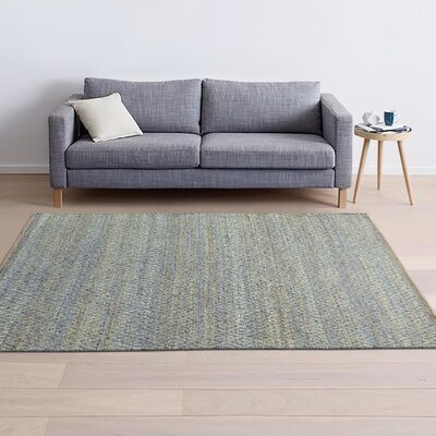 Jennell Hand-Woven Blue Area Rug Rug Size: 8 x 10
