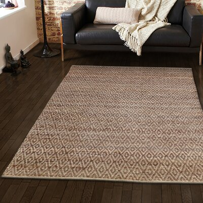 Azaria Hand-Woven Brown Area Rug Rug Size: 8 x 10