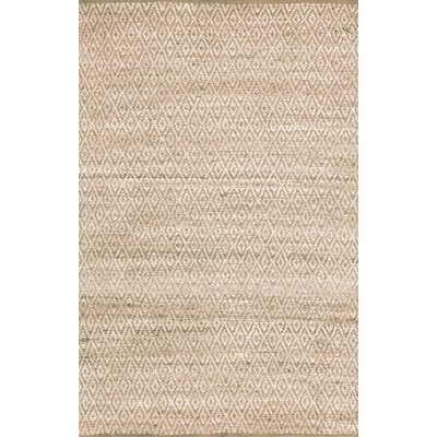Azaria Hand-Woven Ivory Area Rug Rug Size: 5 x 8