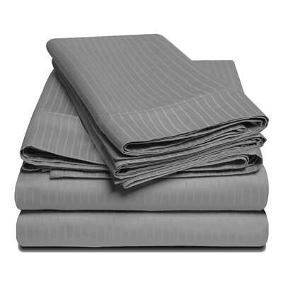 1000 Thread Count 100% Egyptian-Quality Cotton Sheet Set Size: King, Color: Gray