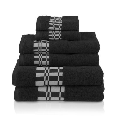 Larissa 6 Piece Towel Set Color: Black