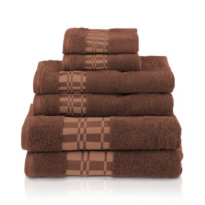 Larissa 6 Piece Towel Set Color: Chocolate