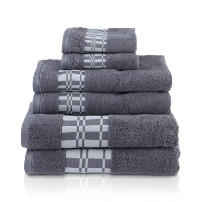 Larissa 6 Piece Towel Set Color: Gray