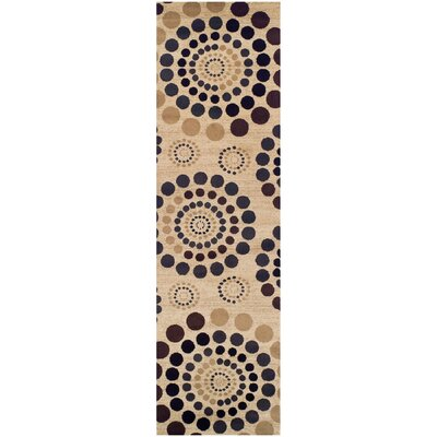 City Circle Cream Area Rug Rug Size: Runner 27 x 8
