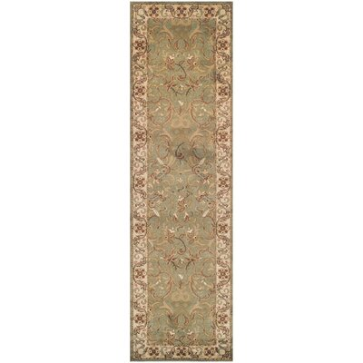 Destin Green/Beige Area Rug Rug Size: Runner 27 x 8