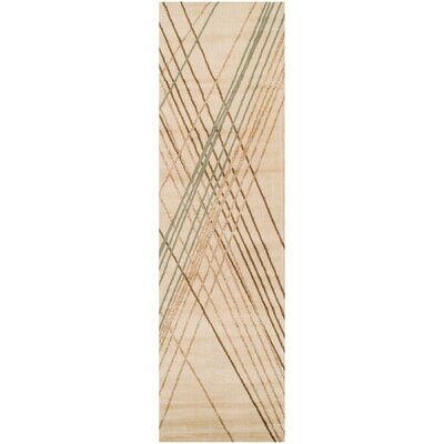 Broadway Ivory Area Rug Rug Size: 23 x 8