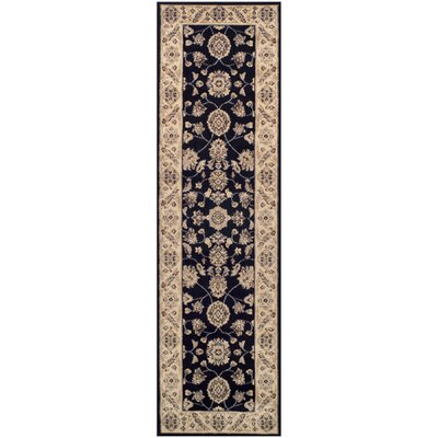 Cambridge Black Area Rug Rug Size: 27 x 8