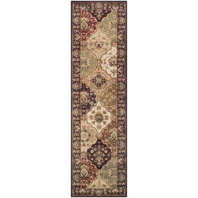Aranson Brown/Beige Area Rug Rug Size: 27 x 8