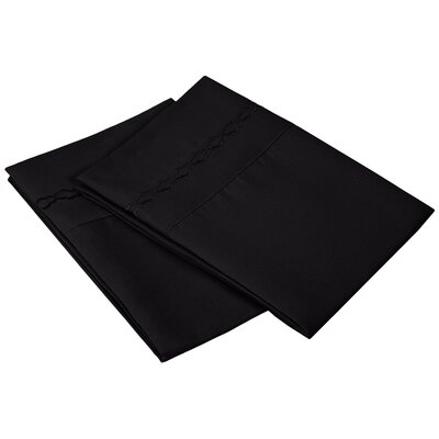 Garrick Solid Clouds Pillowcase Size: Standard, Color: Black