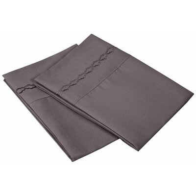 Garrick Solid Clouds Pillowcase Size: Standard, Color: Charcoal