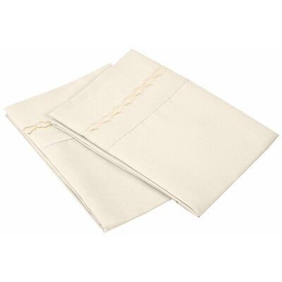 Garrick Solid Clouds Pillowcase Size: Standard, Color: Ivory