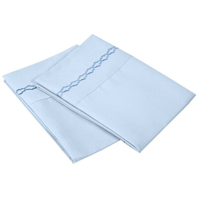Garrick Solid Clouds Pillowcase Size: Standard, Color: Light Blue