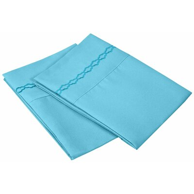 Garrick Solid Clouds Pillow Case Size: Standard, Color: Aqua