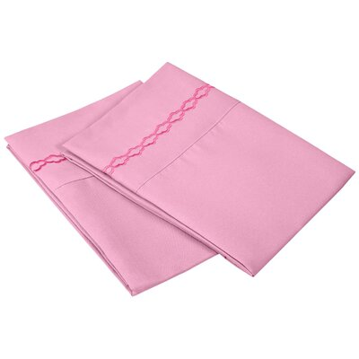 Garrick Solid Clouds Pillowcase Size: Standard, Color: Pink
