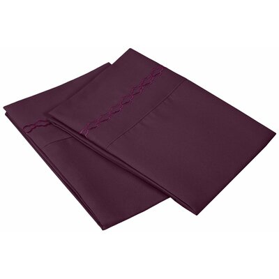 Garrick Solid Clouds Pillowcase Size: Standard, Color: Plum