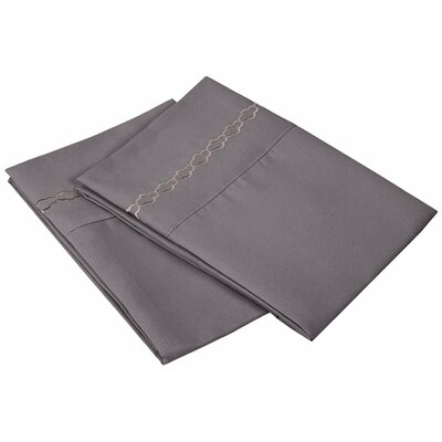 Garrick Solid Clouds Pillowcase Color: Silver, Size: King