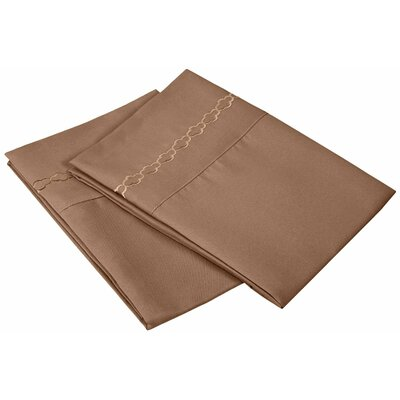 Garrick Solid Clouds Pillowcase Color: Taupe, Size: King