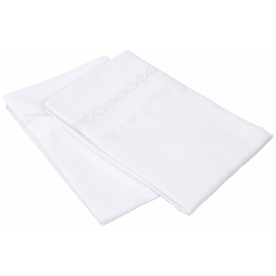 Garrick Solid Clouds Pillowcase Size: Standard, Color: White