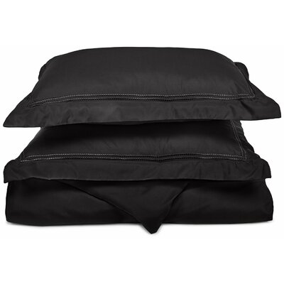 Granger Duvet Set Color: Black, Size: Twin / Twin XL